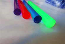 Colored cast acrylic rod