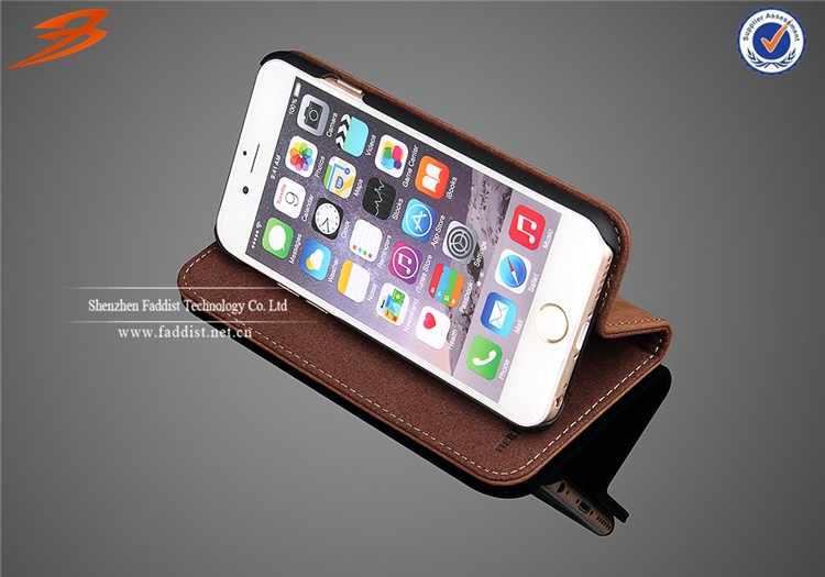 For iphone 6s case,for iphone 6s genuine leather case,for iphone 6s stand case with card slot
