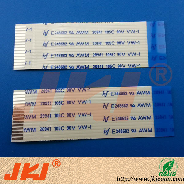 1.0mm pitch 15pin 50MM flexible flat Ribbon cable FPC FFC