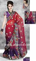 Chiffon and Georgette Designer Sarees