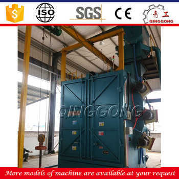 China Factory Supplier Small- scale Steel Workpiece Hook Type Shot Blasting Machine Price with ISO 9001 Certification