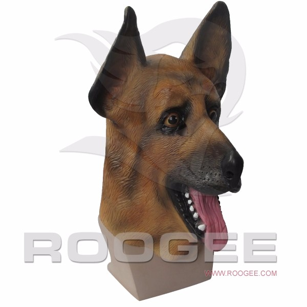 Funny Full Head Animal German Shepherd Latex Head Mask For Accoutrement Party Cosplay
