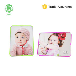 7 inch ABS and glass baby funia love funny photo frame