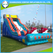 Big discount kids outdoor games big kahuna inflatable water slide for sale