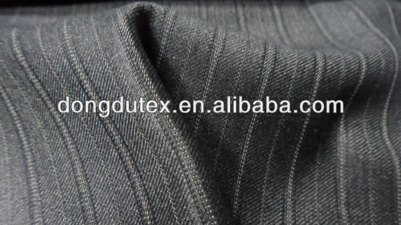 striped polyester and rayon mens pants fabric