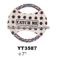 fabric nylon pet frisbee launcher dog flying frisbee for promotion-YT3587