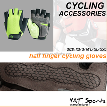 Professional quality Shockproof custom logo fingerless cycling gloves