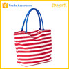 Wholesale 2016 New Style Ladies Stripe Canvas Beach Bag For Summer