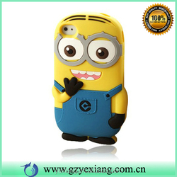 2014 3D Despicable Me Minions Silicone Rubber Case For iPhone 5 5S