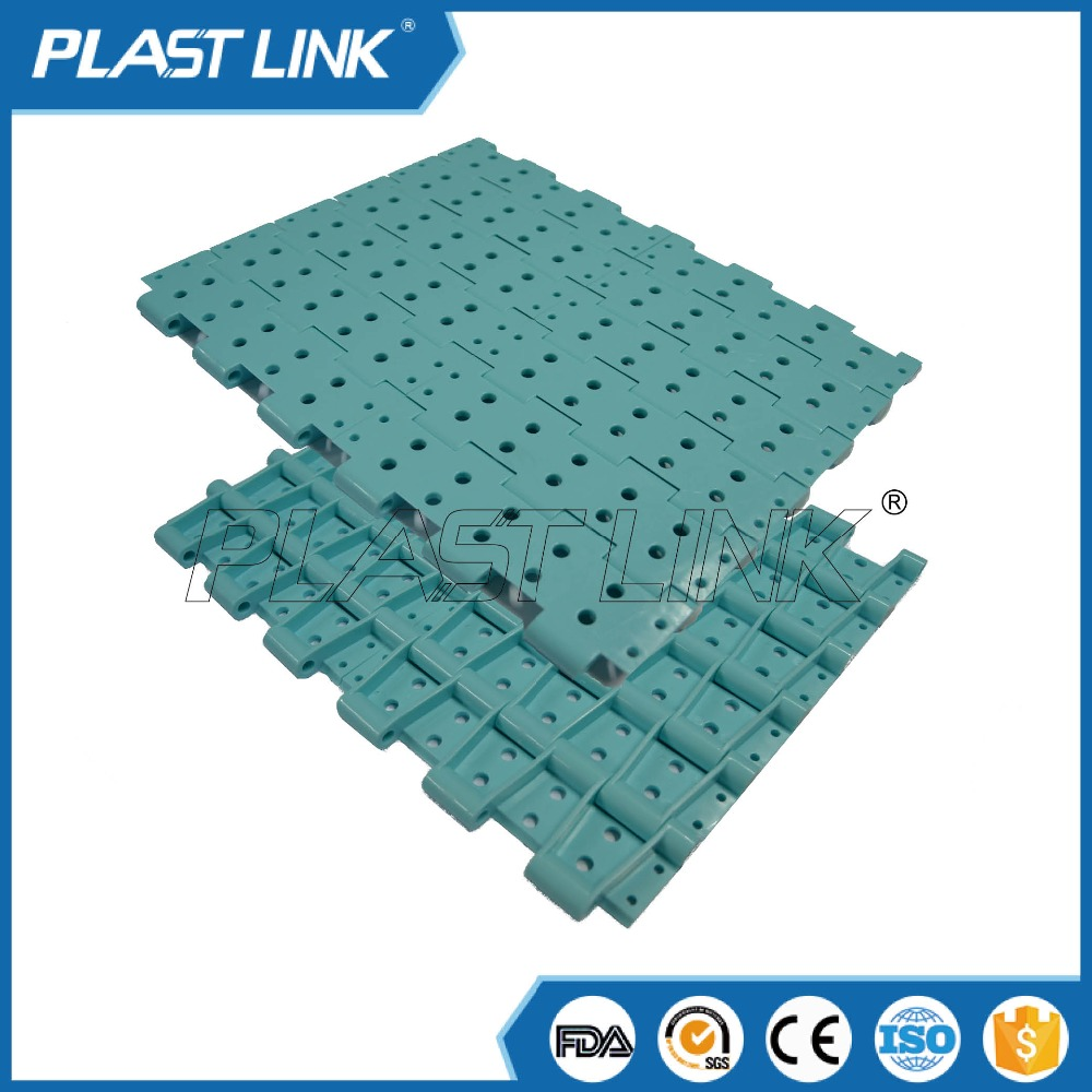 Plast Link 4705 paper vertical conveyor belt for can and beverage packaging