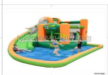 2016 Summer hot inflatable water pool slide castle,inflatable water games castle slide for fun