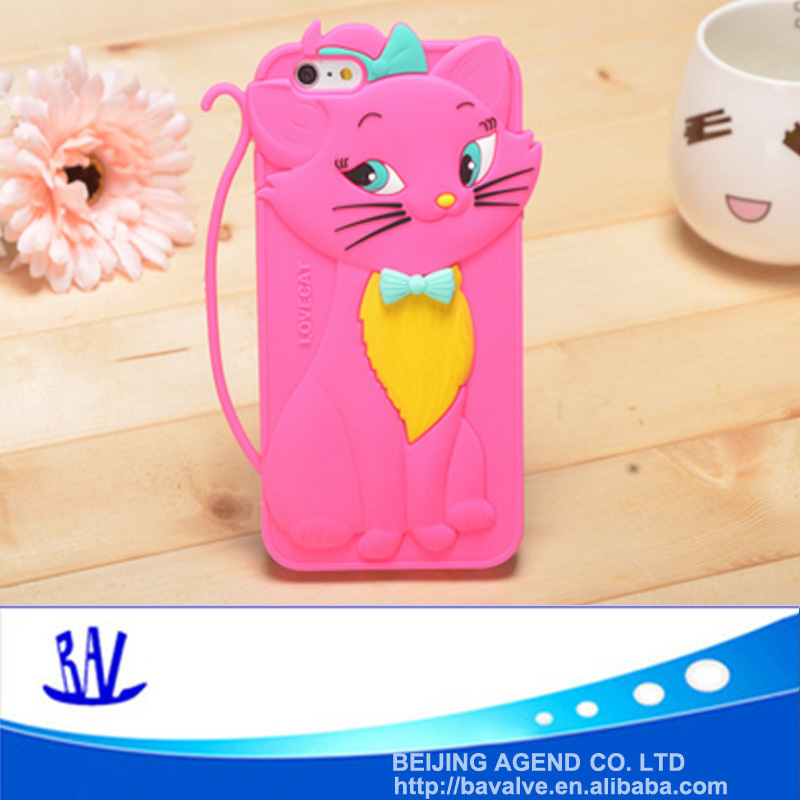3d animal shaped cartoon design silicone mobile phone case for iPhone 6/6s