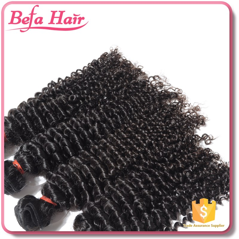 Brazilian Jerry Curl Human Hair Grade 7A Virgin Hair Different Types Of Curly Weave Hair