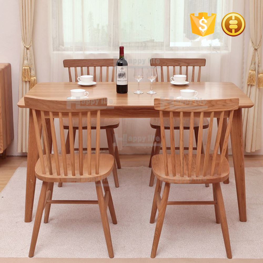 Scandinavian furniture wood chair and table restaurant furniture sets 2016