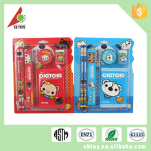 Funny cute design mini school stationery set for kids