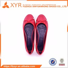 High quality beautiful red leather 2017 new flat sandals lady shoes