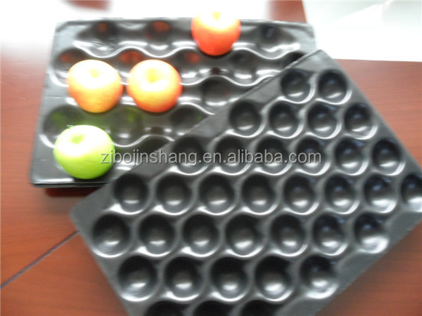Black Ps soft foam plastic tray with dividers