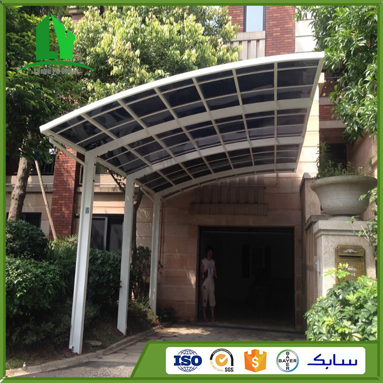 Lanyu Lexan solid diamond embossed polycarbonate waterproof carport
