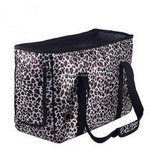 Pet carrier printed Leopard grain dog cat outdoor bag portable and convenient dog travel carrier shoulder bag
