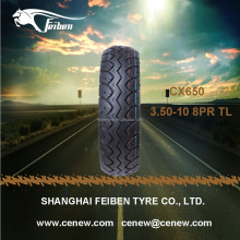 CHINA FEIBEN BRAND CX650 3.50-10 8PR TUBELESS SCOOTER TIRE