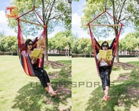 Outdoor Canvas Cover hanging hammock rope swing single Chair With Cushion
