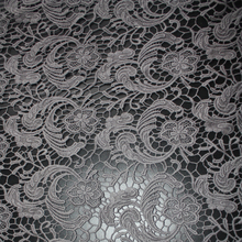 100% cotton thick embroidery guipure lace fabric allover chemical lace water soluble lace fabric