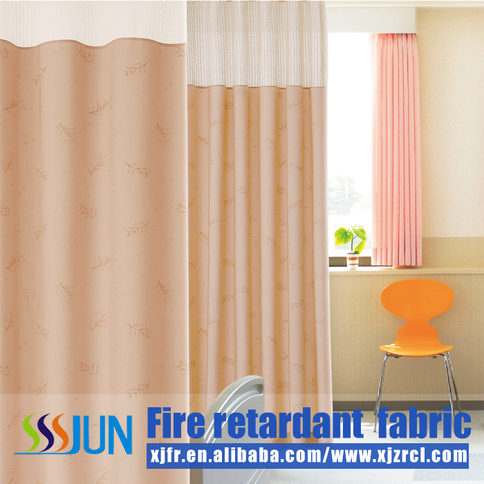 Pass NFPA 701fire retardant cubical medical partition fabric China wholesale XJY 3012