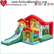 Commercial inflatable bouncer slide combo and funny inflatable bounce house with slide for kids