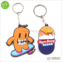Guangdong factory cheap wholesale keyring 3d soft pvc keychain