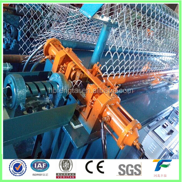 Factory Supply Full Automatic Chain Link fence making machine Price Galvanized