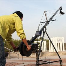 Professional 2-Axis Motorized Head 10m Jimmy Jib Video Camera Triangle Crane