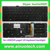 PL FR GR TR SP RU IT UK AR US Laptop Keyboard for LENOVO yoga3 pro13 backlight no frame laptop repairment keyboards
