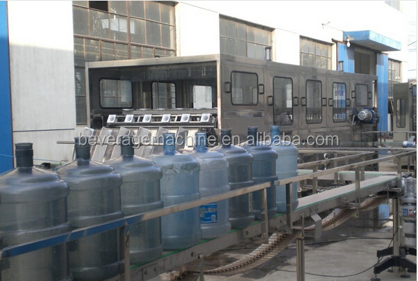 300bph-350bph 19l barrel pure water filling line