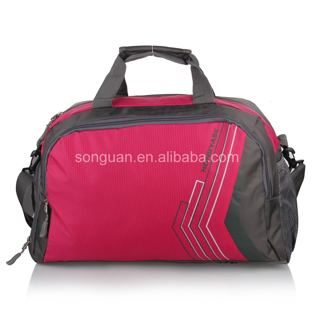 2016 Organizer waterproof multi color gym travel luggage duffle bags sport bag with shoe compartment