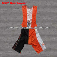 Eco-friendly lycra sublimated cycling bib shorts for team