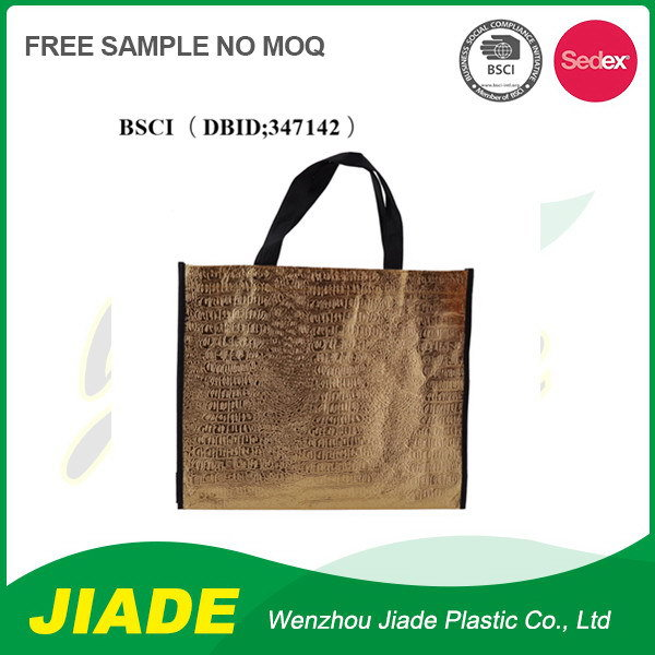 Newest design top quality promotion zipper non woven bag for shopping