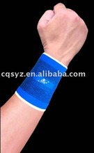 Blue color elastic boxing wrist support