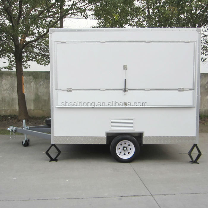 White Fast Food Vehicle /Electric Shop Car for Sale with Adv Boards