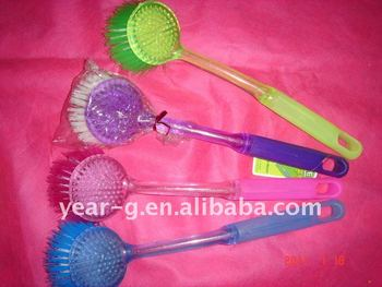 plastic pan brush with long handle