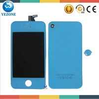 Mobile Phone Colorful LCD Screen and Back Cover For iphone 4 Spare Parts, For Iphone 4G LCD Touch Screen Assembly +Back Housing