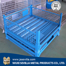 stackable steel pallet cage/foldable mesh pallet box/wire mesh cages pallet