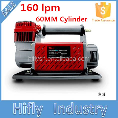 HF-16060 DC 12V/24V 160L Heavy Duty Car Air Compressor 60MM Cylinder 160lpm Air Compressor ( CE ROHS certificate)