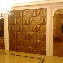 GLM Leather wall panel Interior decoration walnut wall panel New HOT products bring you new profit