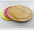 Kitchen bamboo + pp cutting board double used for fruit / vegetable / meat
