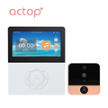 New Product 4.5inch Inside Screen Wifi Smart Door bell Camera supplier ,support Android/IOS app