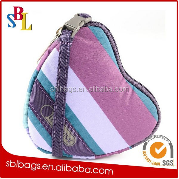Polyester material coin wallet / purse for sublimation heat transfer photo / small coin purse
