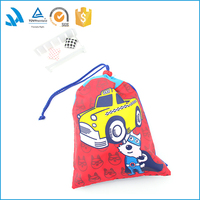 Custom printed linen drawstring pouch fabric gift phone bag wholesale