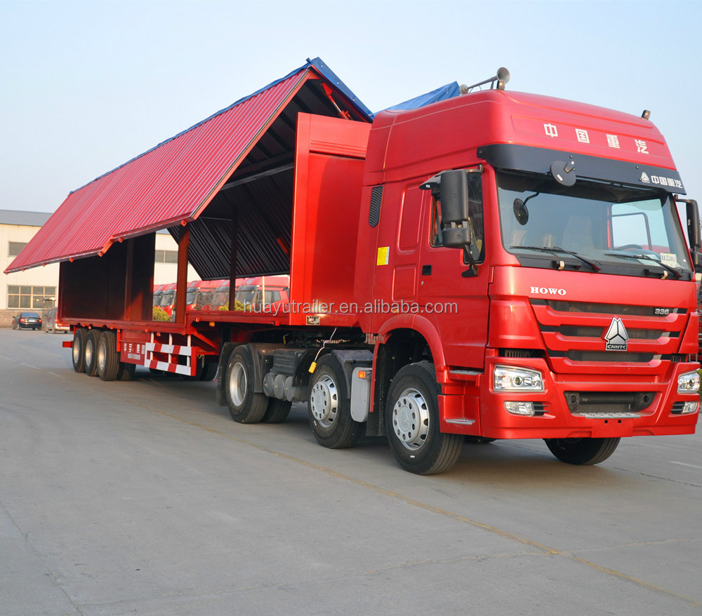 Huayu Manufacturer Truck Use Trailer wing opening type van semi trailer