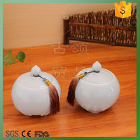 lotus leaf celadon storage jar 2pcs
