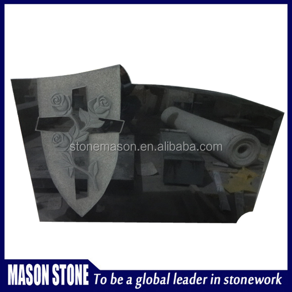 Chinese cheap granite carved rose headstone